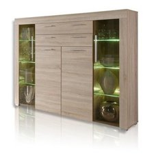 Highboard BOOM - Sonoma Eiche - LED Beleuchtung