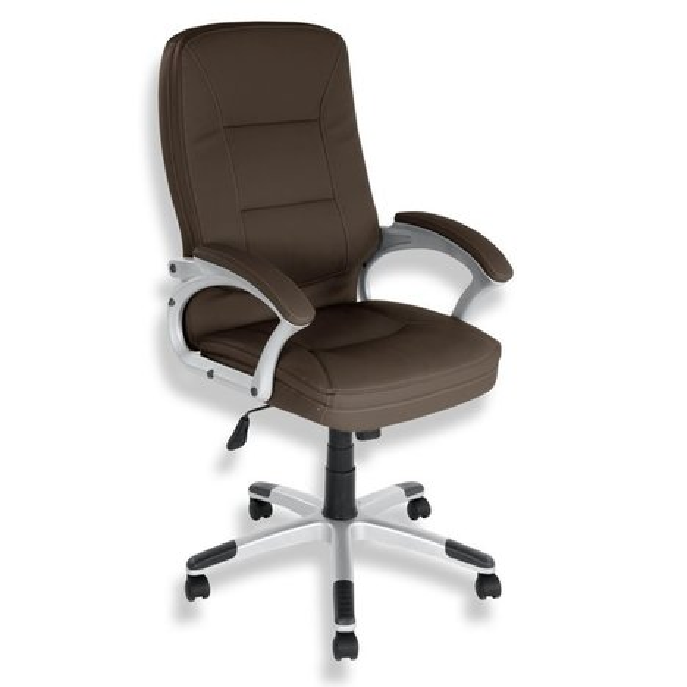 drehstuhl braun kunstleder kippfunktion b rost hle. Black Bedroom Furniture Sets. Home Design Ideas