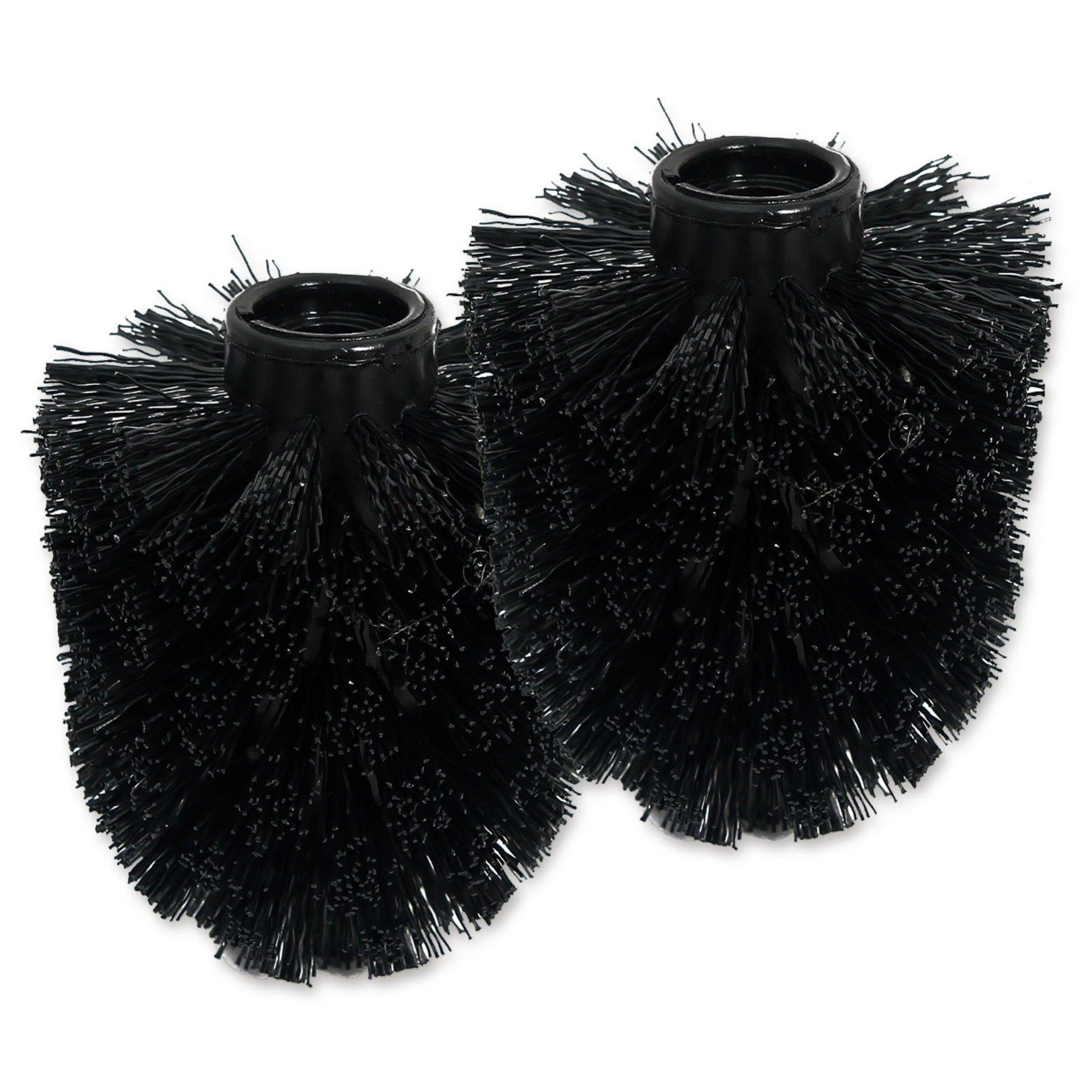 2er Pack Ersatz-WC-Bürstenkopf - schwarz