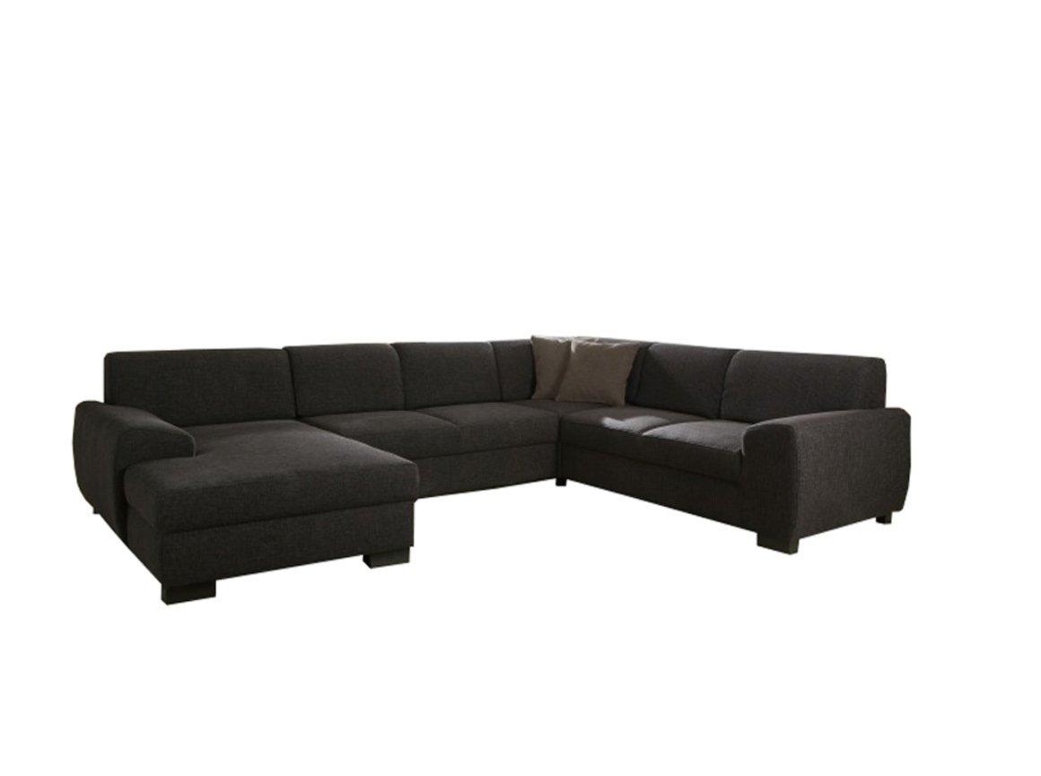 wohnlandschaft dunkelbraun recamiere links wohnlandschaften u form sofas couches. Black Bedroom Furniture Sets. Home Design Ideas