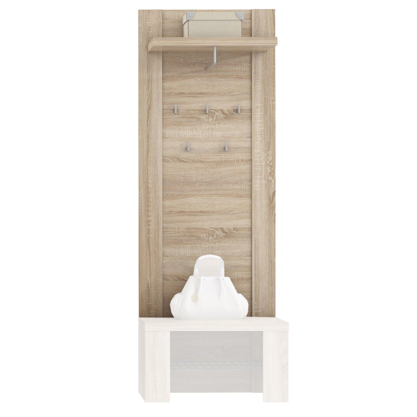 garderobenpaneel calpe sonoma eiche 70 cm wandgarderoben paneele flur diele. Black Bedroom Furniture Sets. Home Design Ideas