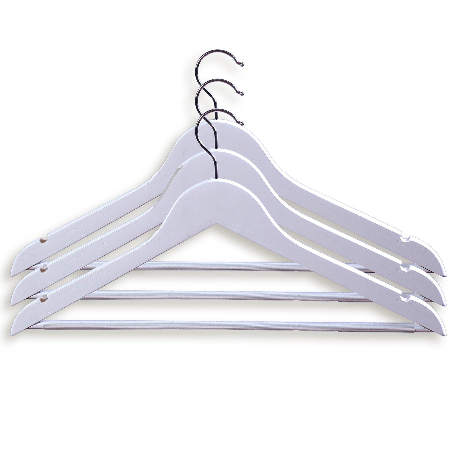 3-teiliges Kleiderbügel-Set - weiß - mit Hosensteg | Kleiderbügel ...