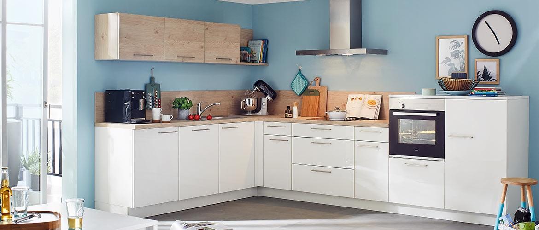 Winkel- & Eckküchen inklusive Elektrogeräte | auf Roller.de