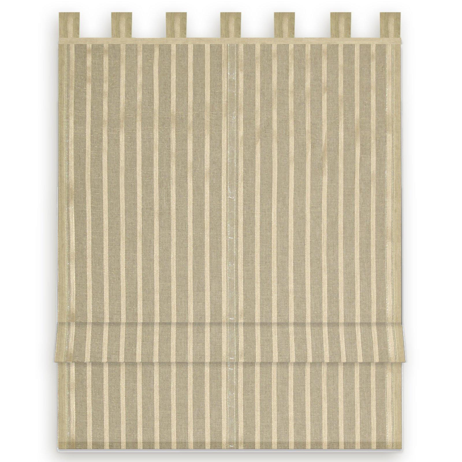 raffrollo bella taupe 100x140 cm sichtschutz raffrollos raffrollos rollos jalousien. Black Bedroom Furniture Sets. Home Design Ideas