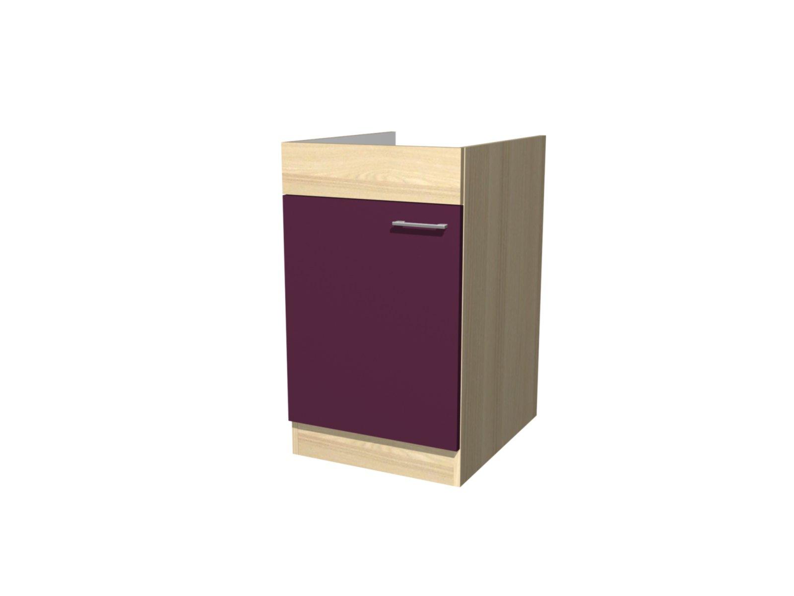 sp lenunterschrank focus akazie aubergine 50 cm sp lenunterschr nke einzelschr nke. Black Bedroom Furniture Sets. Home Design Ideas