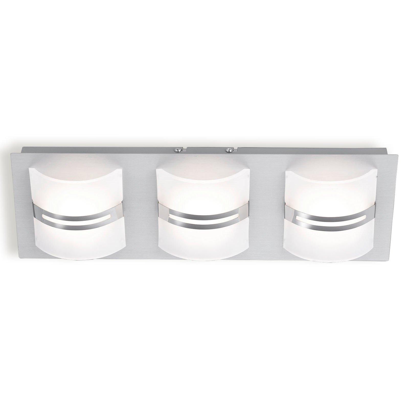led decken und wandleuchte klara alu 3 flammig led deckenleuchten deckenleuchten. Black Bedroom Furniture Sets. Home Design Ideas