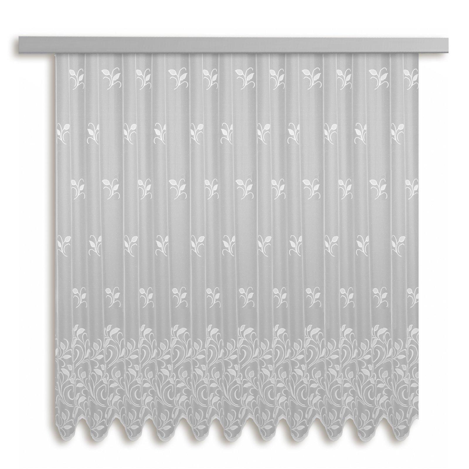 Gardine BOLOGNA - Jacquard-Bogenstore - weiß - 450x175 cm