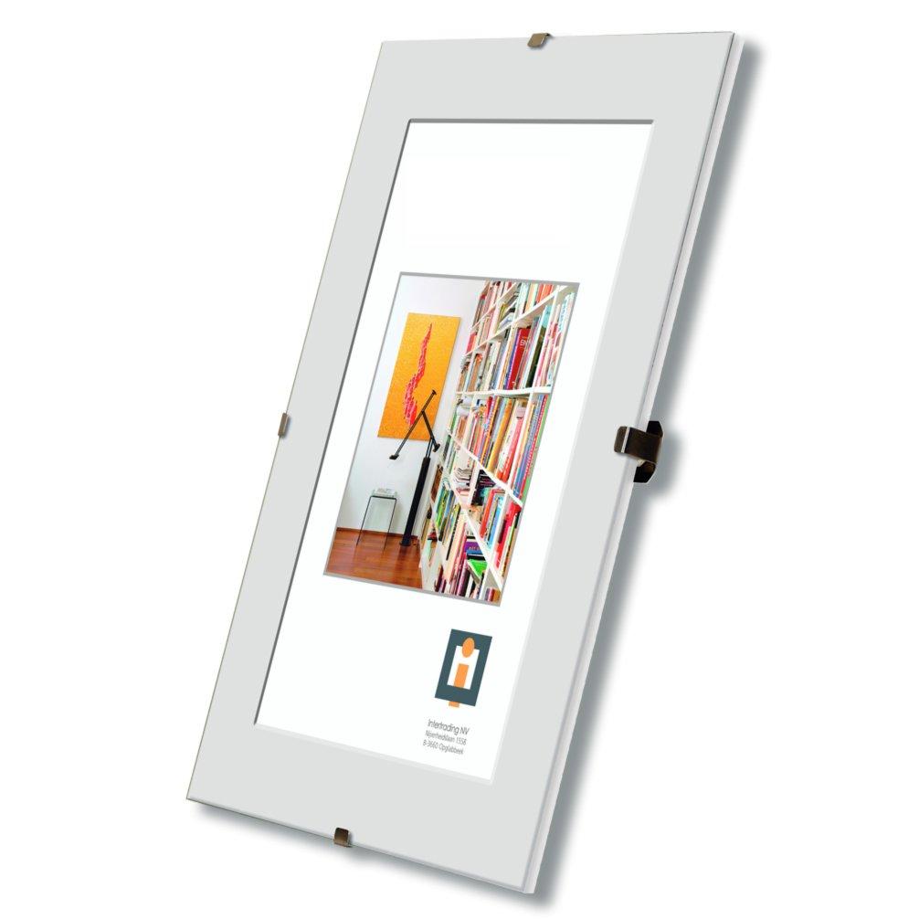 Bildhalter clip wei glas rahmenlos 60x80 cm ebay for Fenster 60x80