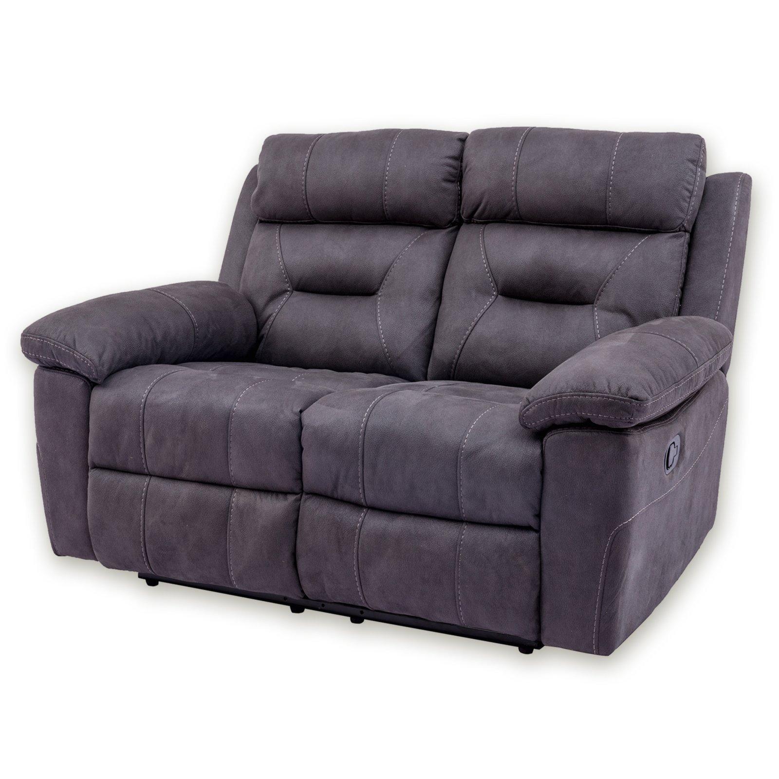 sofa 2 sitzer grau mit relaxfunktion 145 cm breit. Black Bedroom Furniture Sets. Home Design Ideas