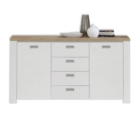 Sideboard COFFEE CREAM - weiß-Eiche Bianco - 162 cm breit