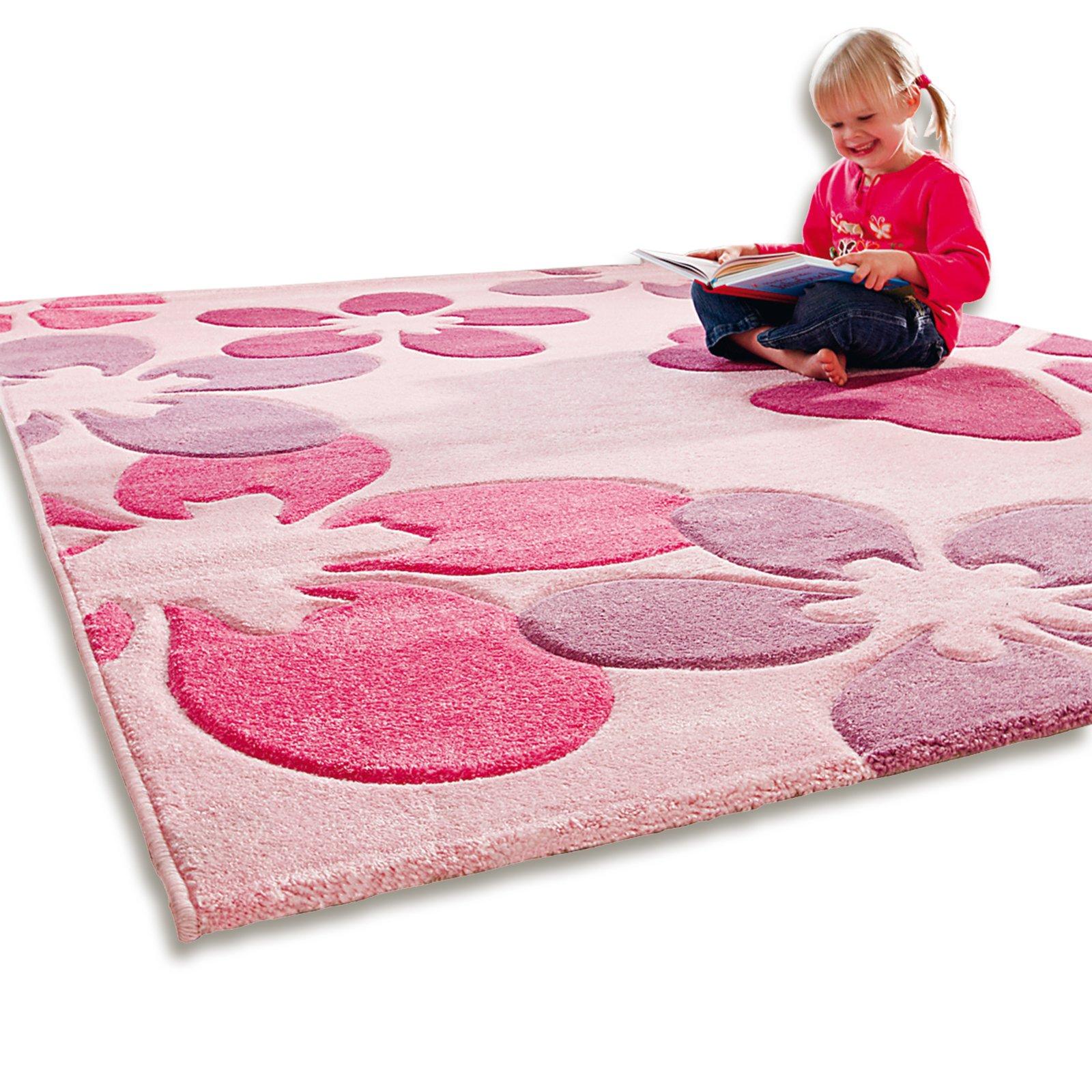 teppich flair pink 120x170 cm gemusterte teppiche. Black Bedroom Furniture Sets. Home Design Ideas