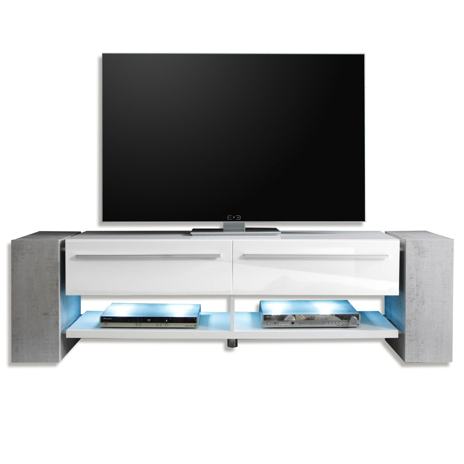 tv lowboard time media wei hochglanz 170x40 cm tv lowboards b nke tv hifi m bel. Black Bedroom Furniture Sets. Home Design Ideas