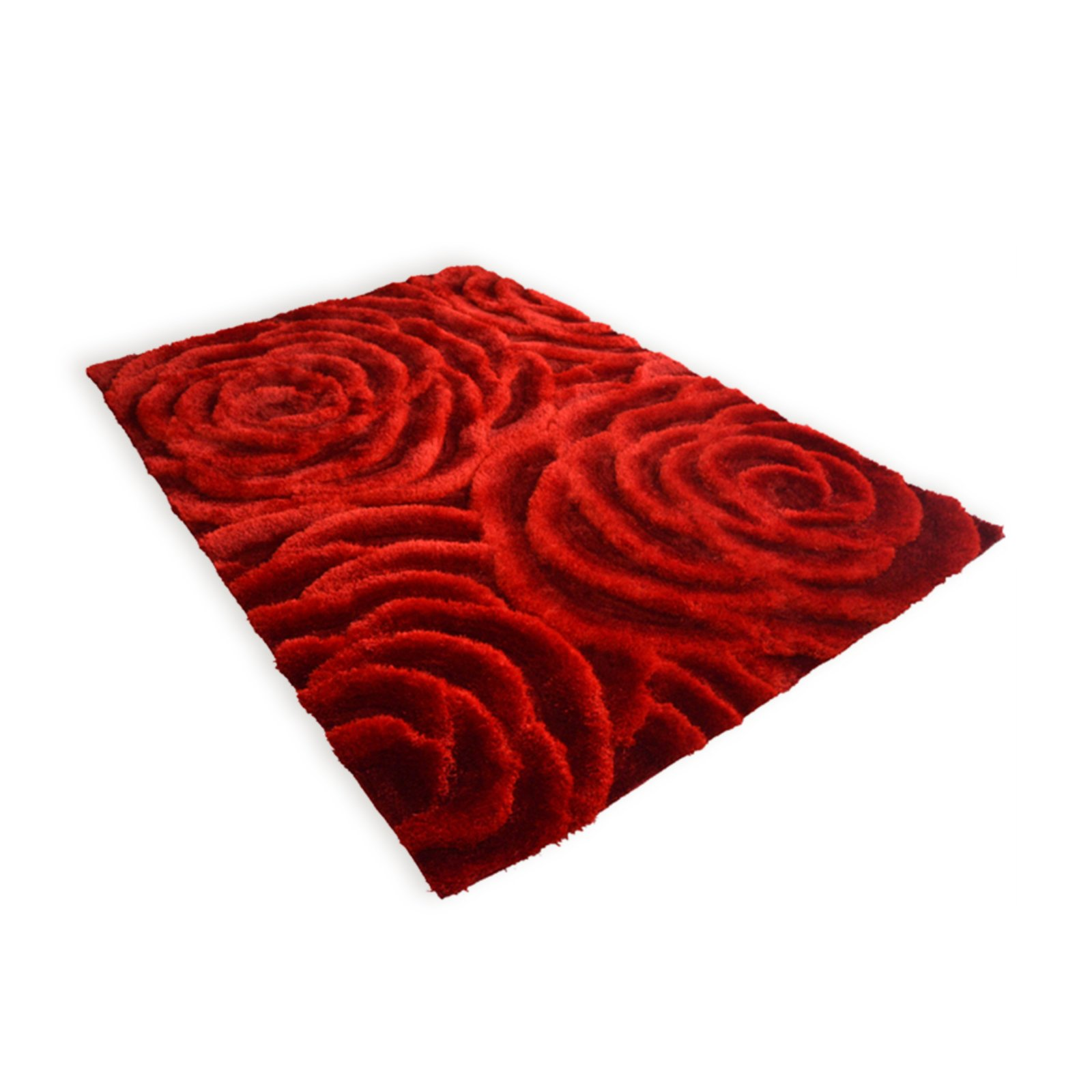 roller hochflor teppich rosen peony rot 160x230 cm ebay. Black Bedroom Furniture Sets. Home Design Ideas