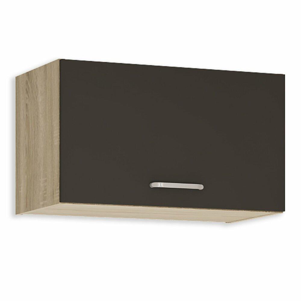 h ngeschrank fox anthrazit sonoma eiche 60 cm breit h ngeschr nke einzelschr nke. Black Bedroom Furniture Sets. Home Design Ideas