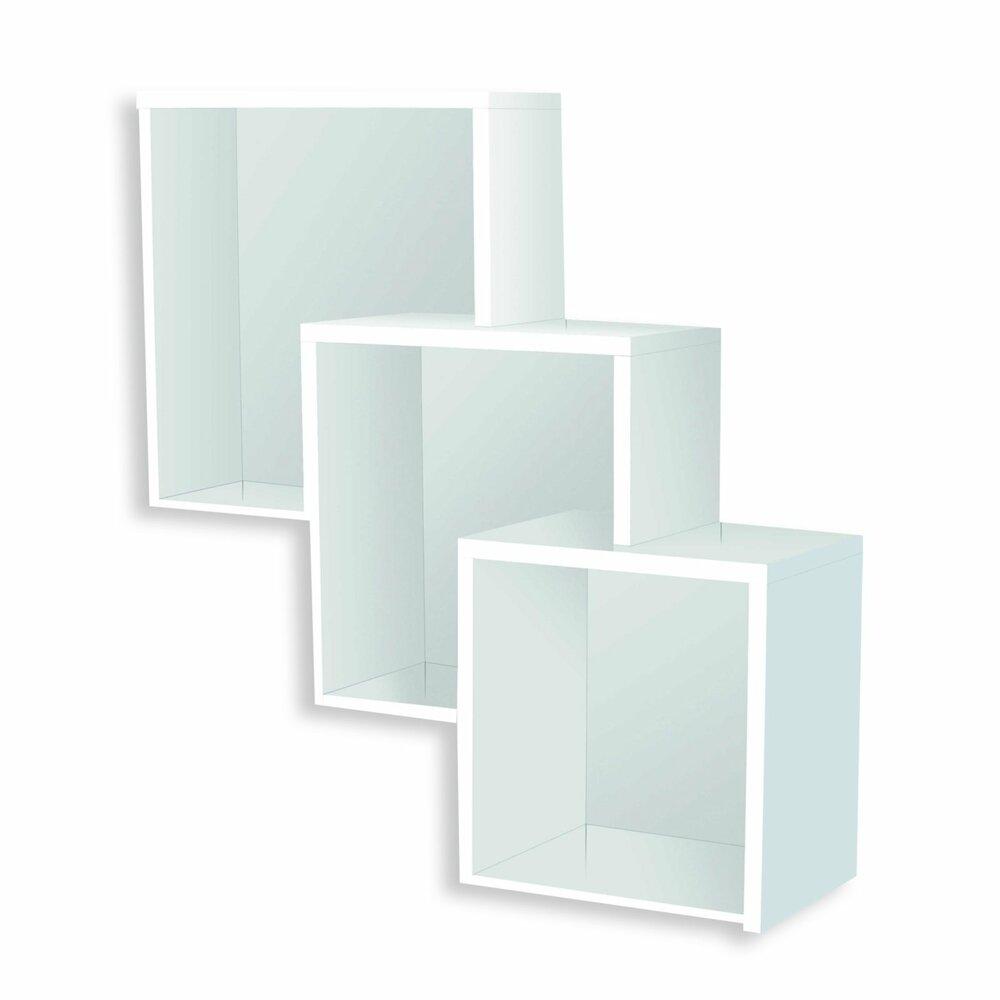 wandregal wei hochglanz 3 f cher wandregale boards regale m bel roller m belhaus. Black Bedroom Furniture Sets. Home Design Ideas
