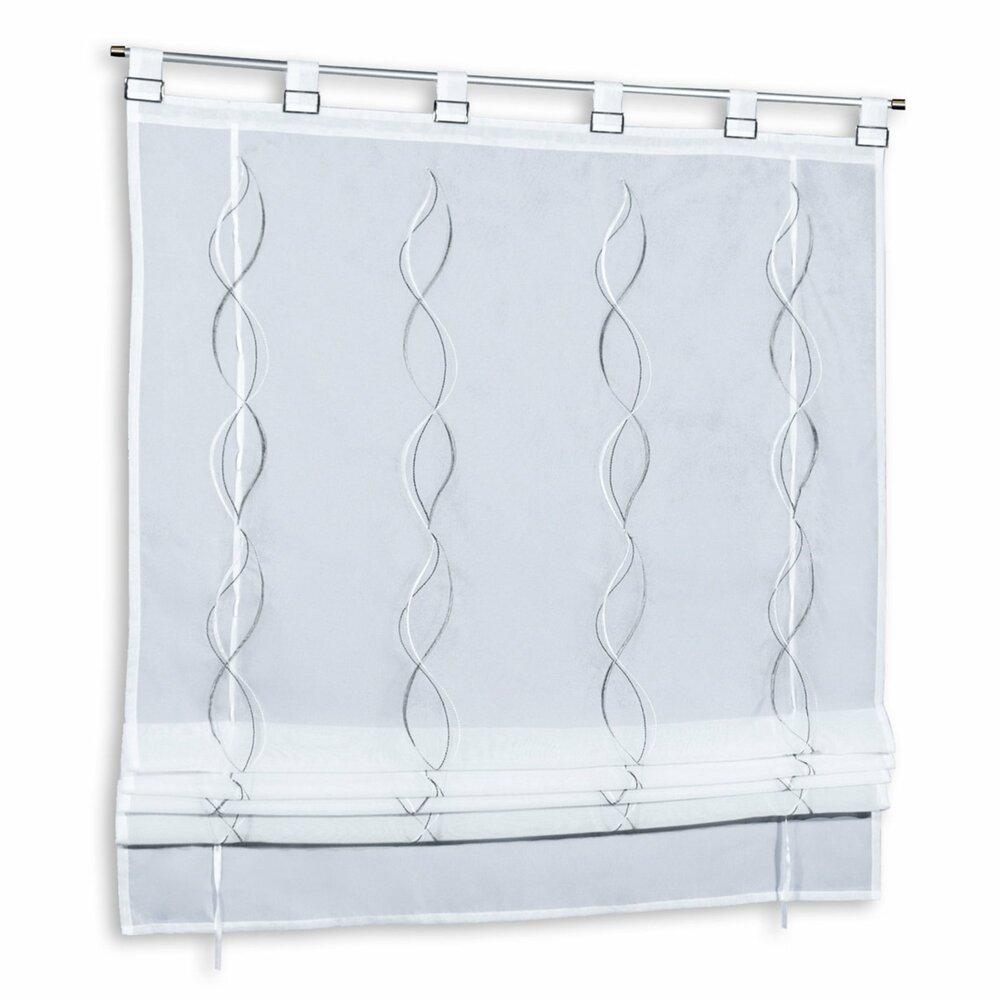 raffrollo wei grau 80x140 cm transparente. Black Bedroom Furniture Sets. Home Design Ideas