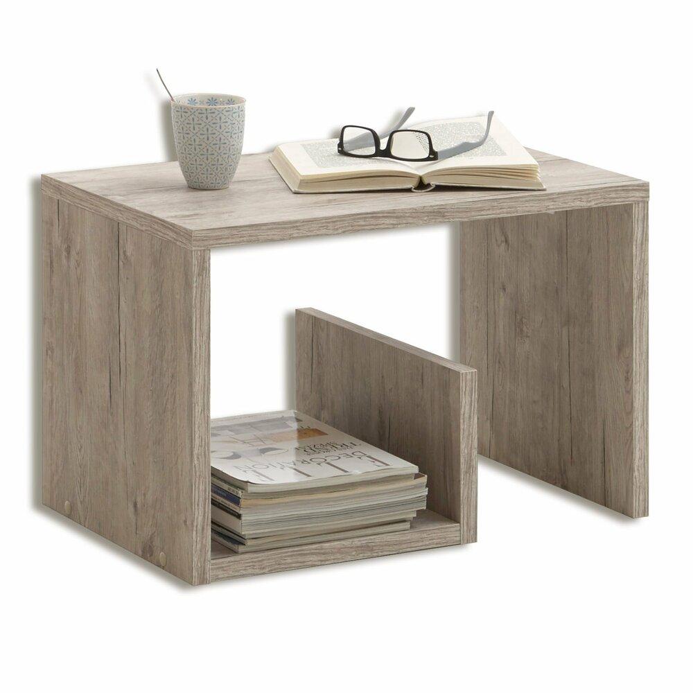 beistelltisch mike sandeiche 38 cm h he beistell. Black Bedroom Furniture Sets. Home Design Ideas