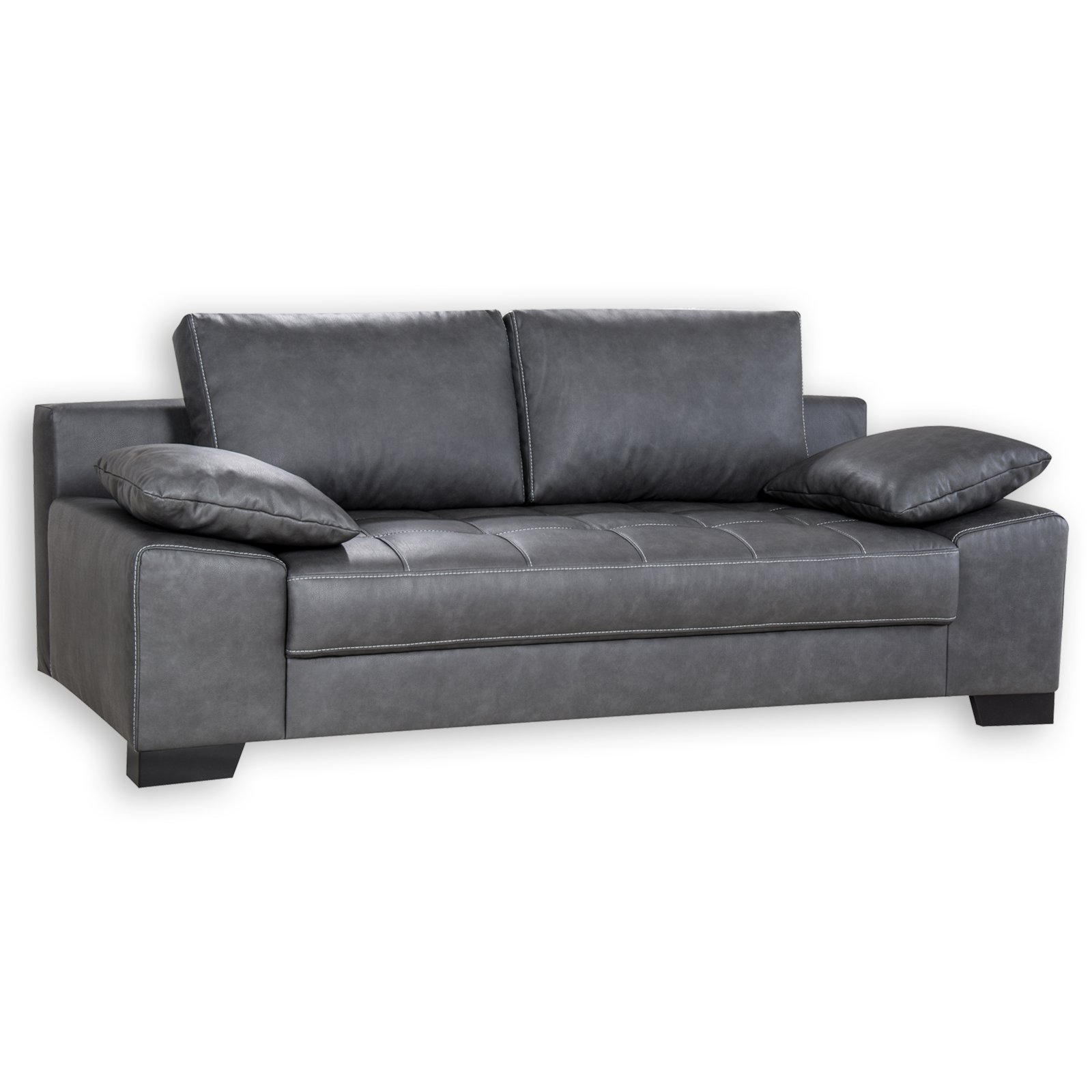 roller 3 sitzer sofa anthrazit dauerschl fer ebay. Black Bedroom Furniture Sets. Home Design Ideas