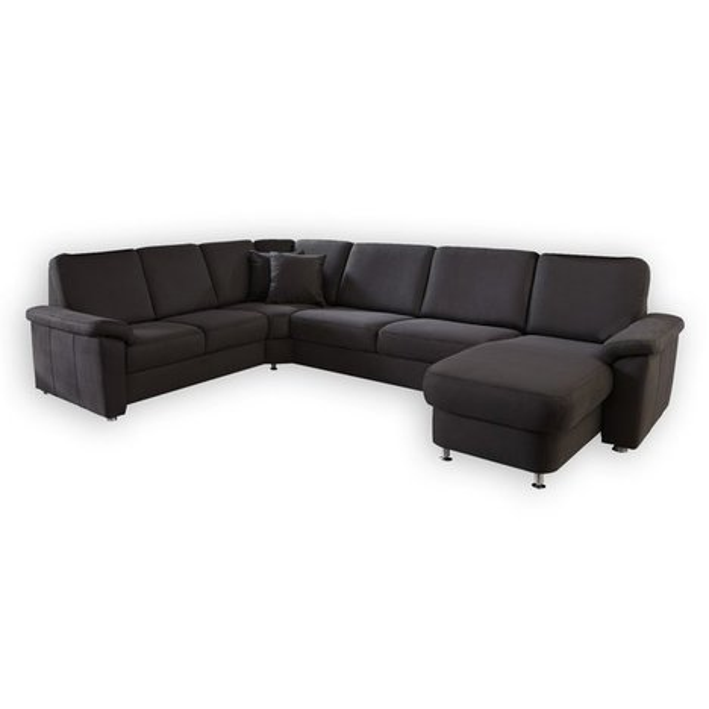 wohnlandschaft braun federkern wohnlandschaften u form sofas couches m bel roller. Black Bedroom Furniture Sets. Home Design Ideas