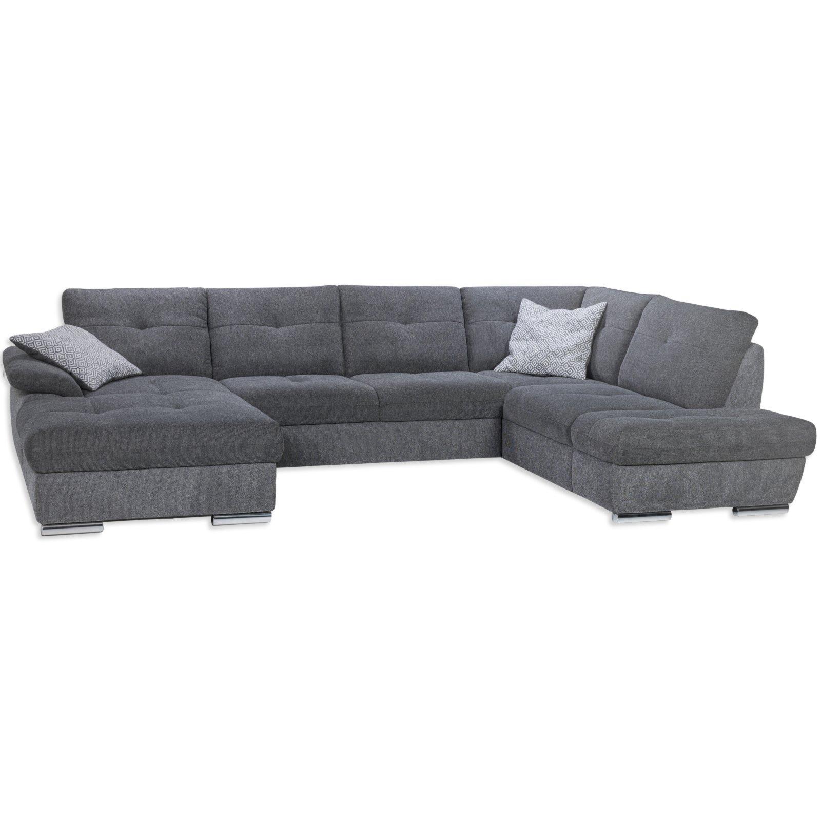 wohnlandschaft graphit charcoal recamiere links wohnlandschaften u form sofas couches. Black Bedroom Furniture Sets. Home Design Ideas