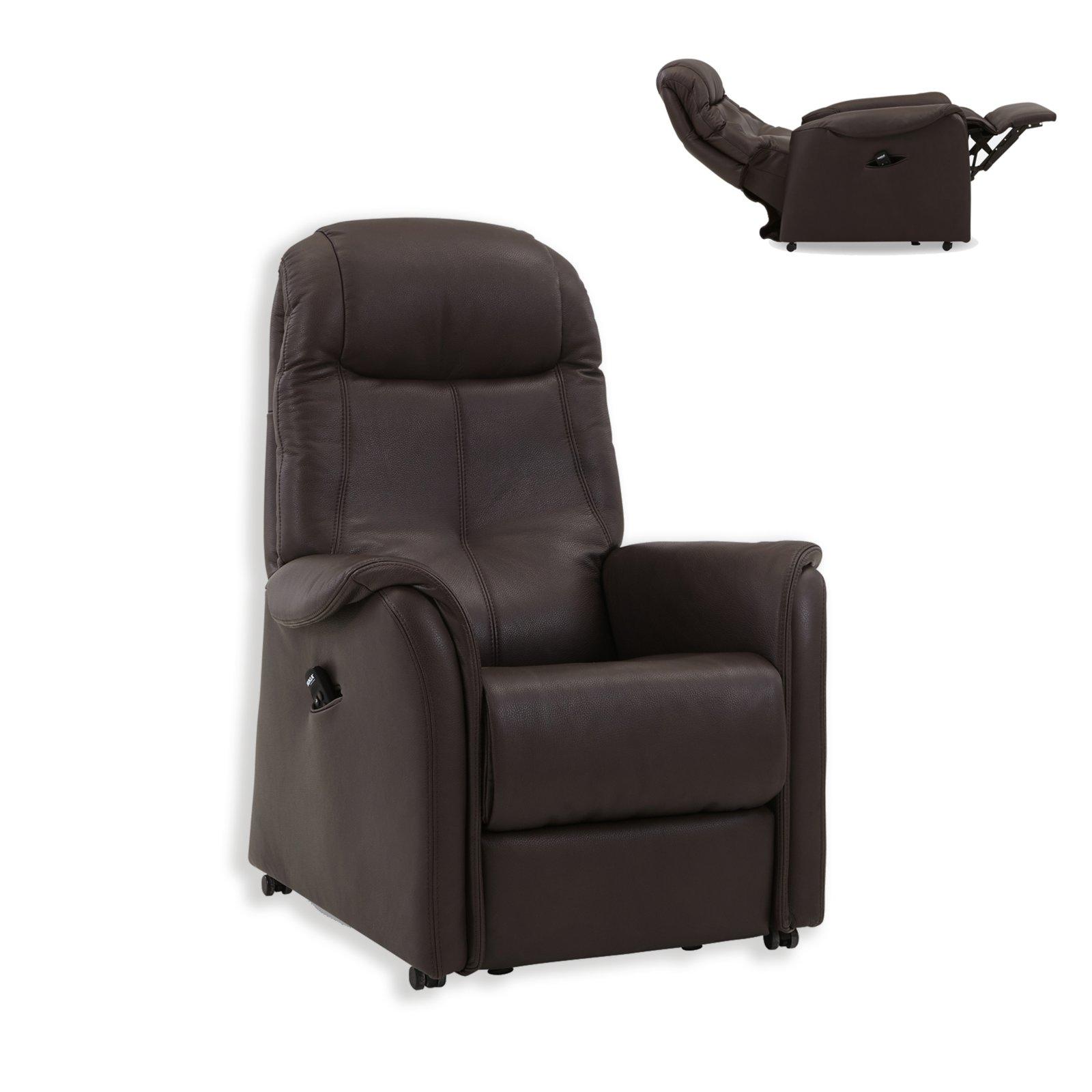 tv ledersessel dunkelbraun funktionen mit motor fernseh relaxsessel sessel hocker. Black Bedroom Furniture Sets. Home Design Ideas