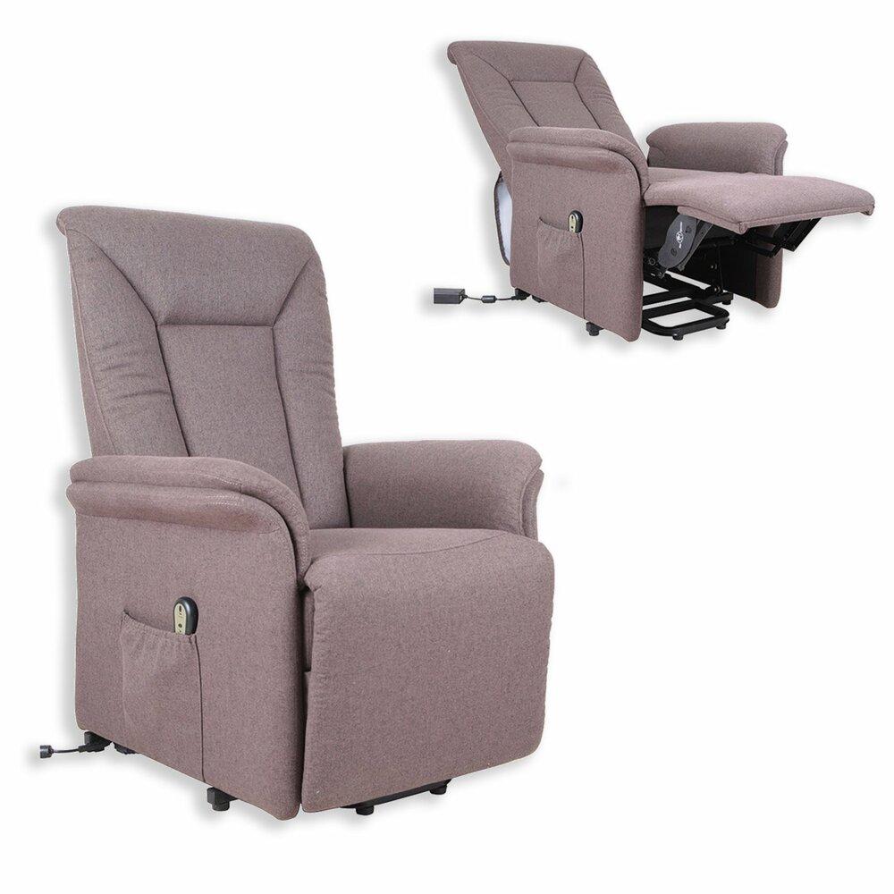 tv sessel braun mit funktionen elektronisch fernseh relaxsessel sessel hocker. Black Bedroom Furniture Sets. Home Design Ideas