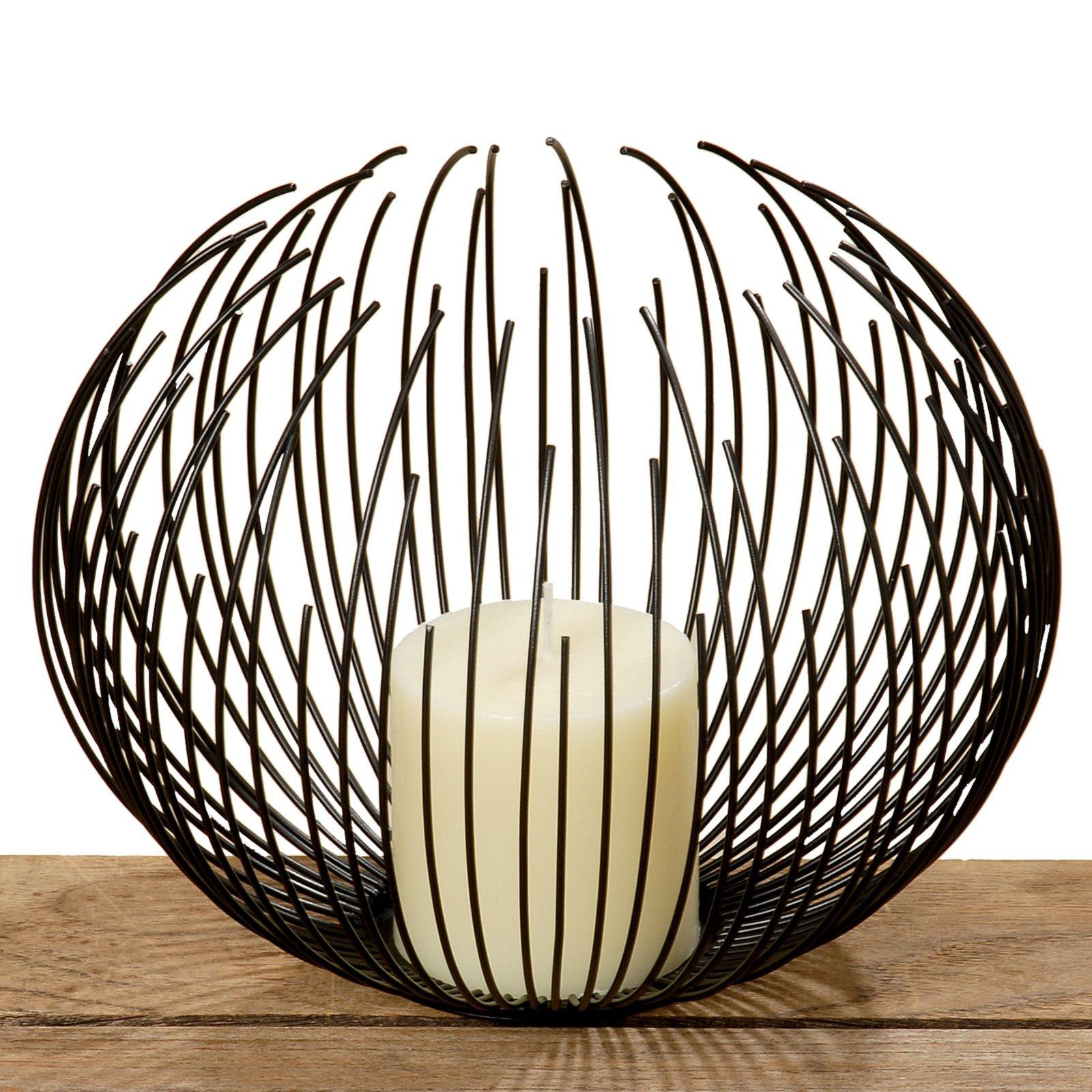 windlicht cylon schwarz metall mit kerze kerzen kerzenhalter deko artikel deko. Black Bedroom Furniture Sets. Home Design Ideas