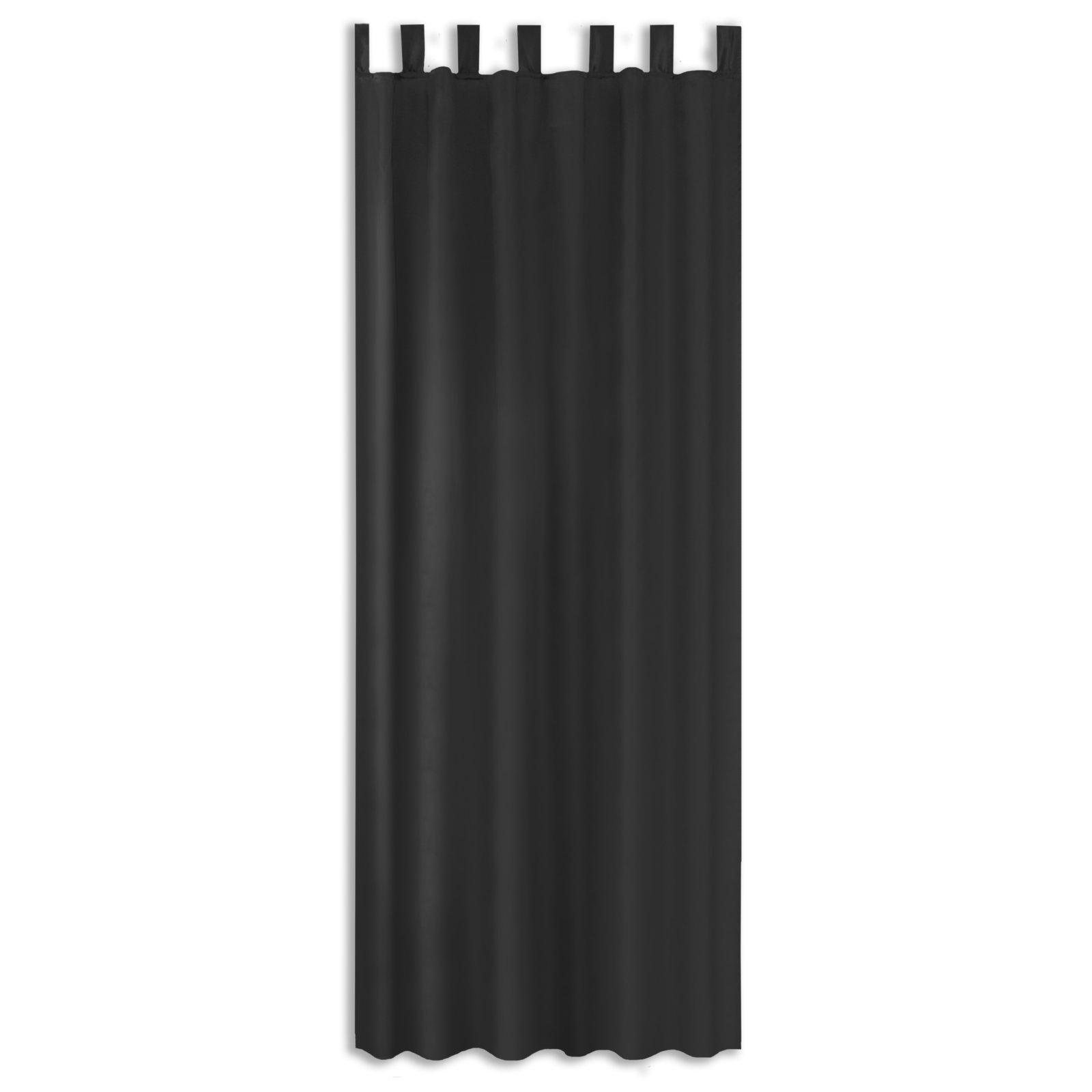 Schlaufenvorhang BRITNEY - schwarz - 140x235 cm