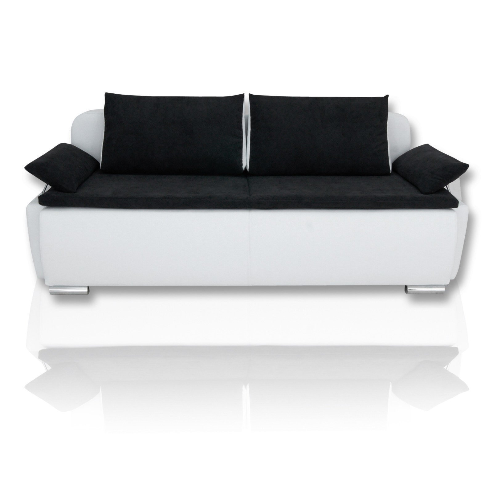 boxspringsofa schwarz wei dauerschl fer boxspringsofas sofas couches m bel roller. Black Bedroom Furniture Sets. Home Design Ideas