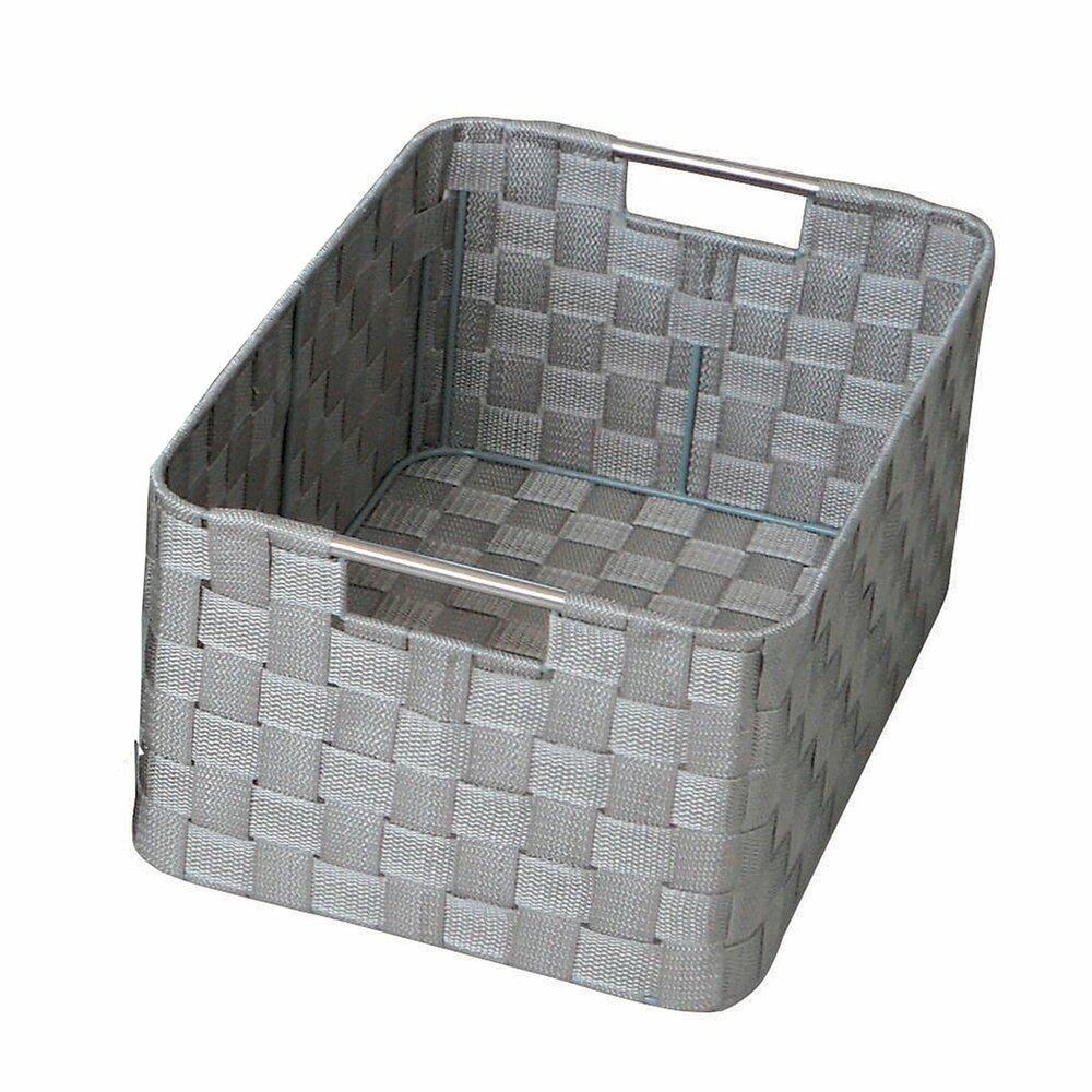 aufbewahrungskorb hellgrau gr e l dekorative boxen k rbe boxen k rbe deko. Black Bedroom Furniture Sets. Home Design Ideas