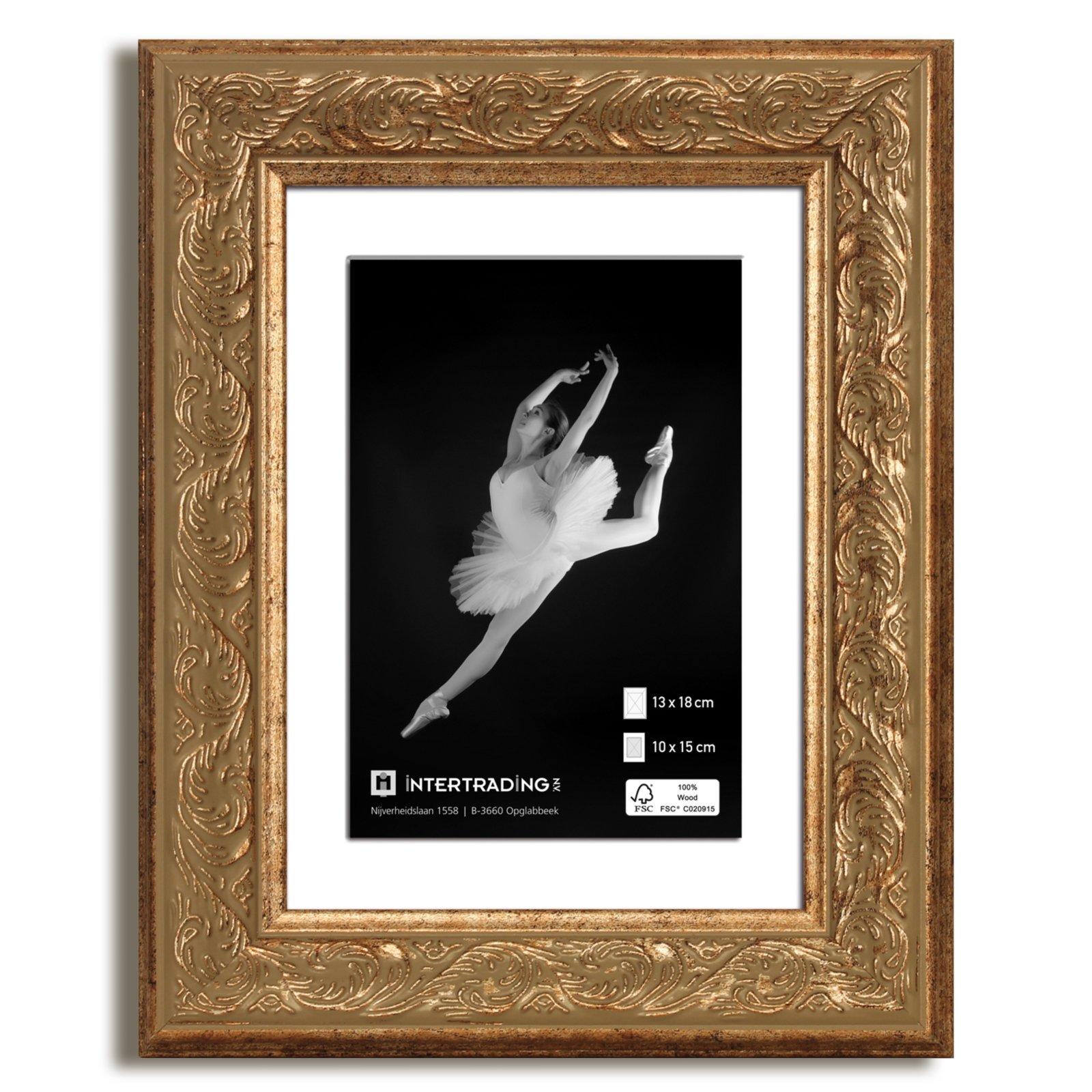 Bilderrahmen VIKTORIA - gold - 13x18 cm