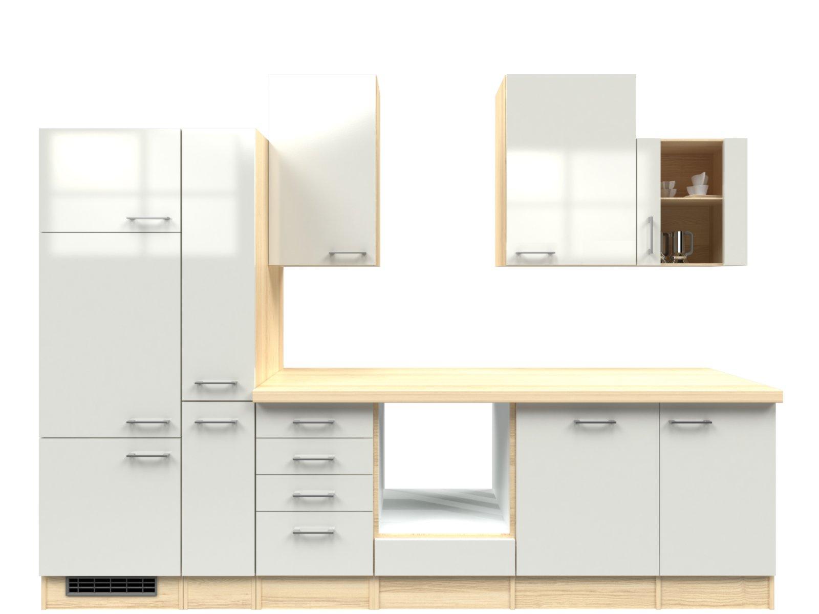 k chenzeilen ohne sp le. Black Bedroom Furniture Sets. Home Design Ideas