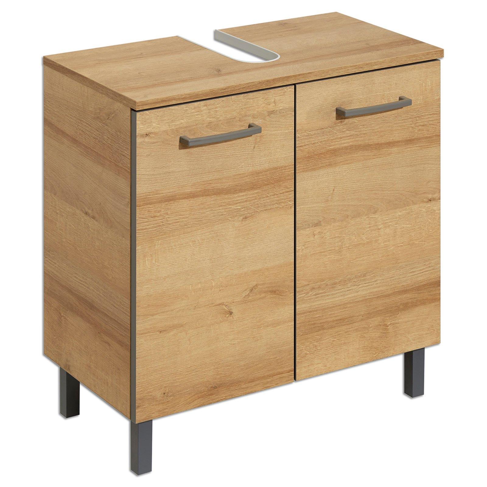 waschbeckenunterschrank riviera eiche 60 cm breit. Black Bedroom Furniture Sets. Home Design Ideas
