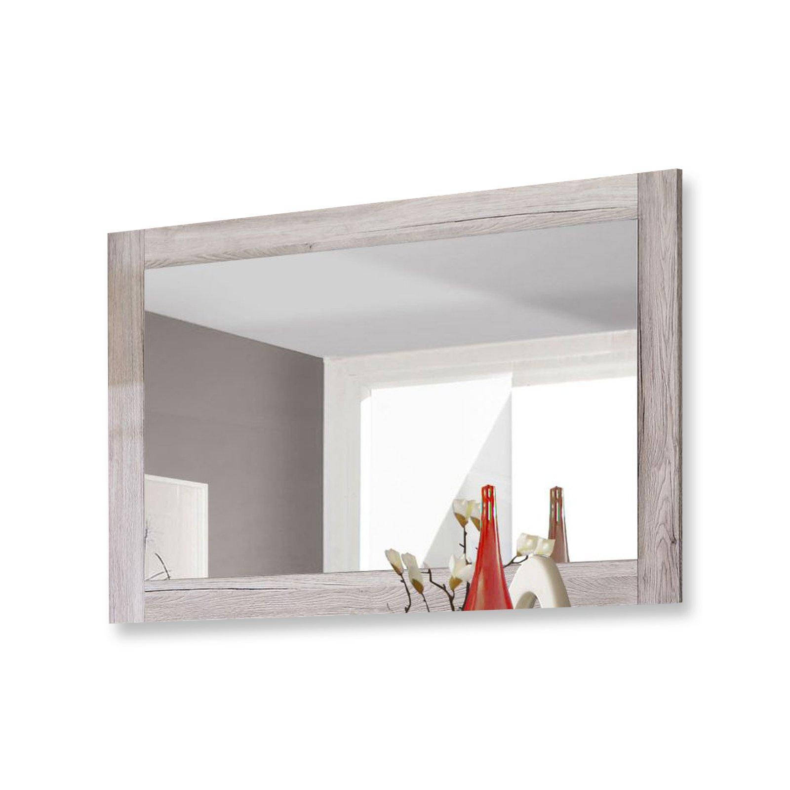 roller spiegel portland sandeiche 116x76x2 cm ebay. Black Bedroom Furniture Sets. Home Design Ideas