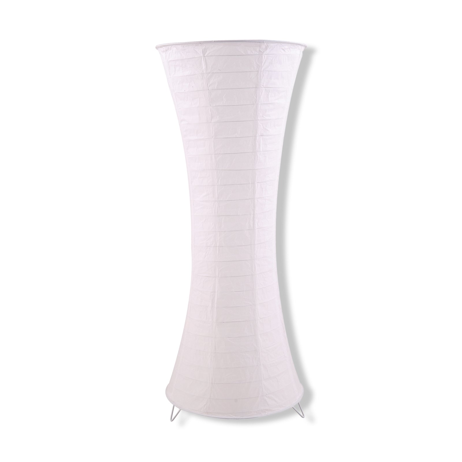 roller stehlampe wei papierschirm metallgestell ebay. Black Bedroom Furniture Sets. Home Design Ideas