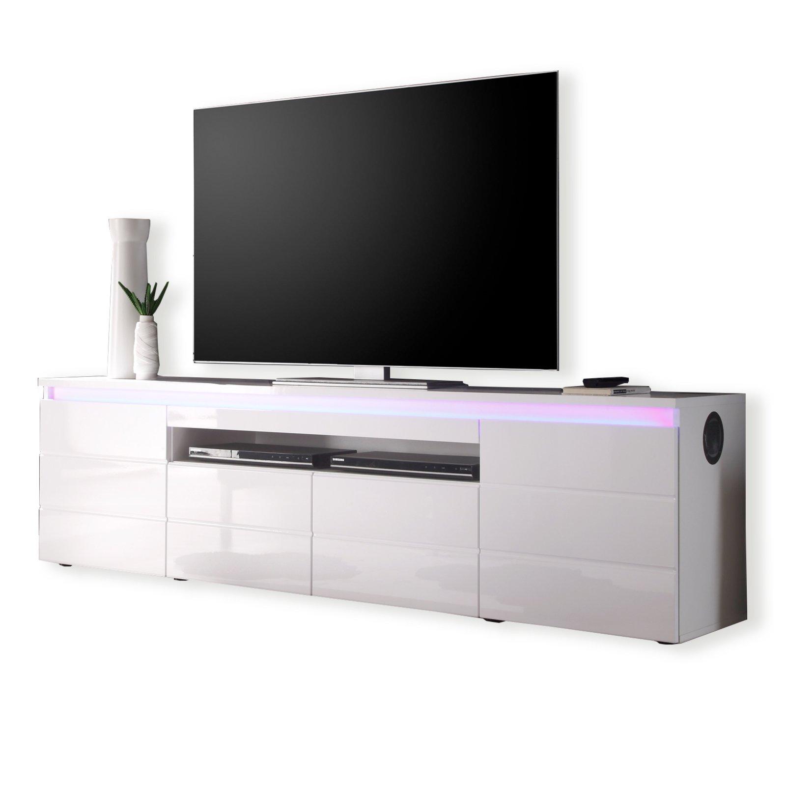 lowboard wei beleuchtung inspirierendes design f r wohnm bel. Black Bedroom Furniture Sets. Home Design Ideas
