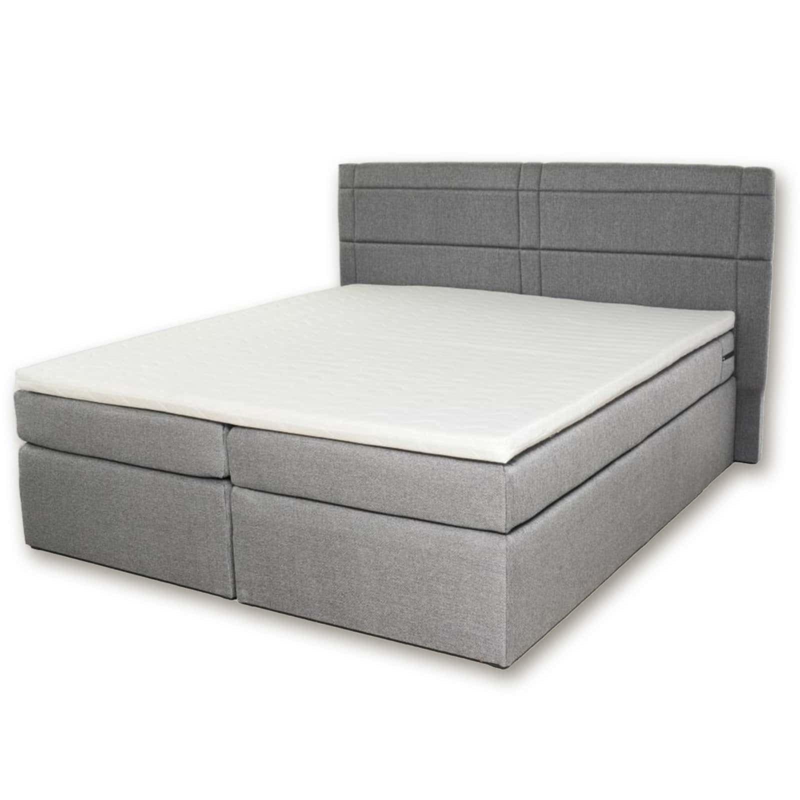 boxspringbett venezia hellgrau h3 180x200 cm boxspringbetten betten m bel roller. Black Bedroom Furniture Sets. Home Design Ideas