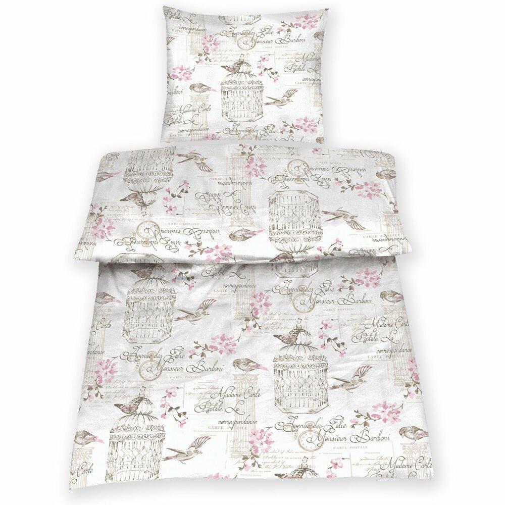 microfaser bettw sche bird wei 135x200 cm bettw sche bettw sche bettlaken. Black Bedroom Furniture Sets. Home Design Ideas