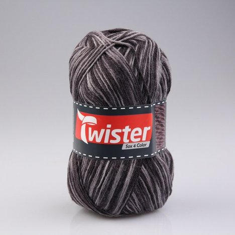 Wolle TWISTER SOX COLOR - grau multi - 100g