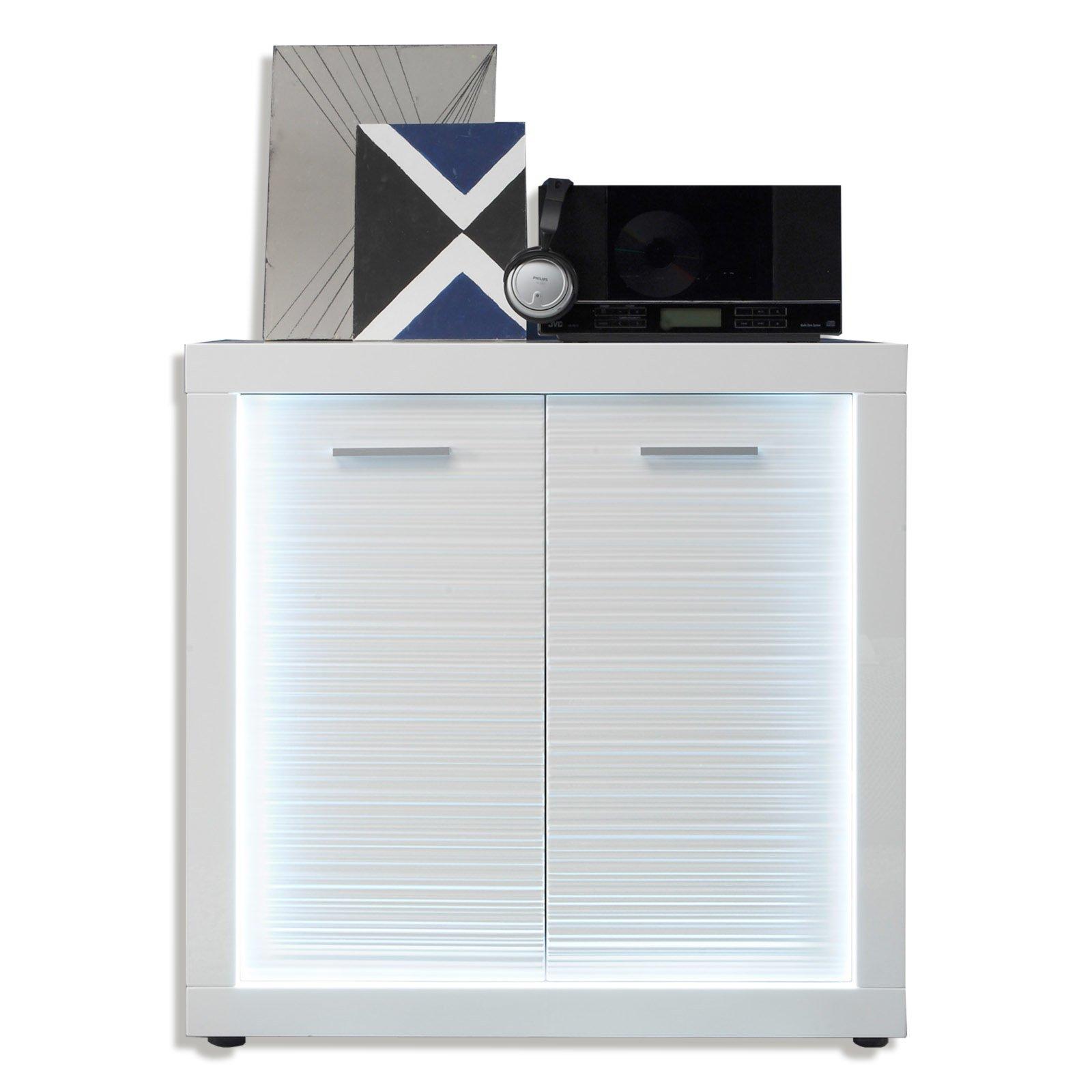 kommode starlight - weiß hochglanz - 2-türig | wohnwand starlight, Wohnzimmer dekoo