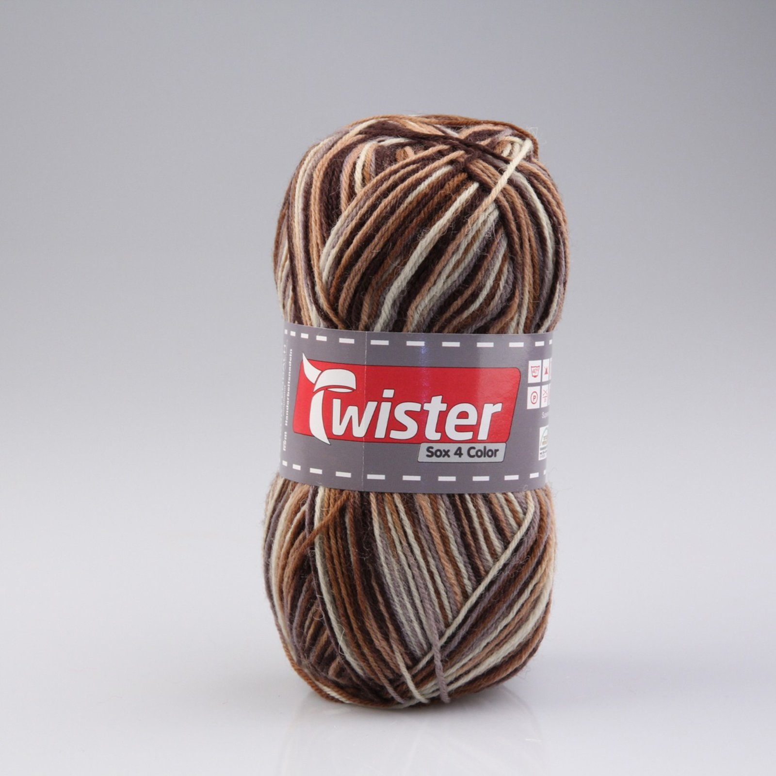 Wolle TWISTER SOX COLOR - braun-beige multi - 100g