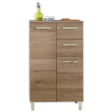 Highboard offenbach san remo eiche terra badezimmer for Badezimmer highboard