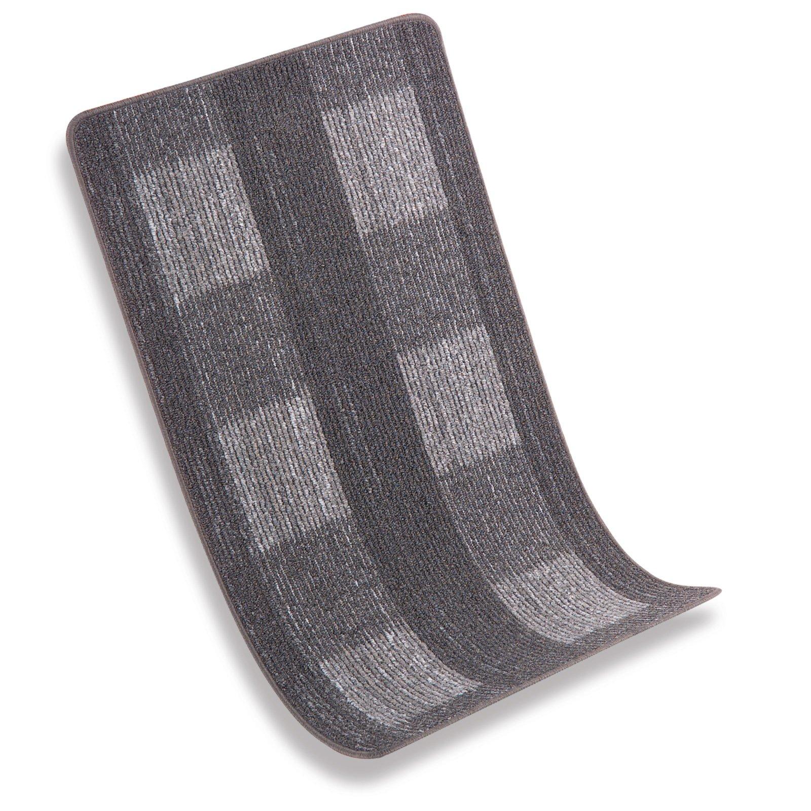 Kettelteppich KARREE - grau - 67x120 cm