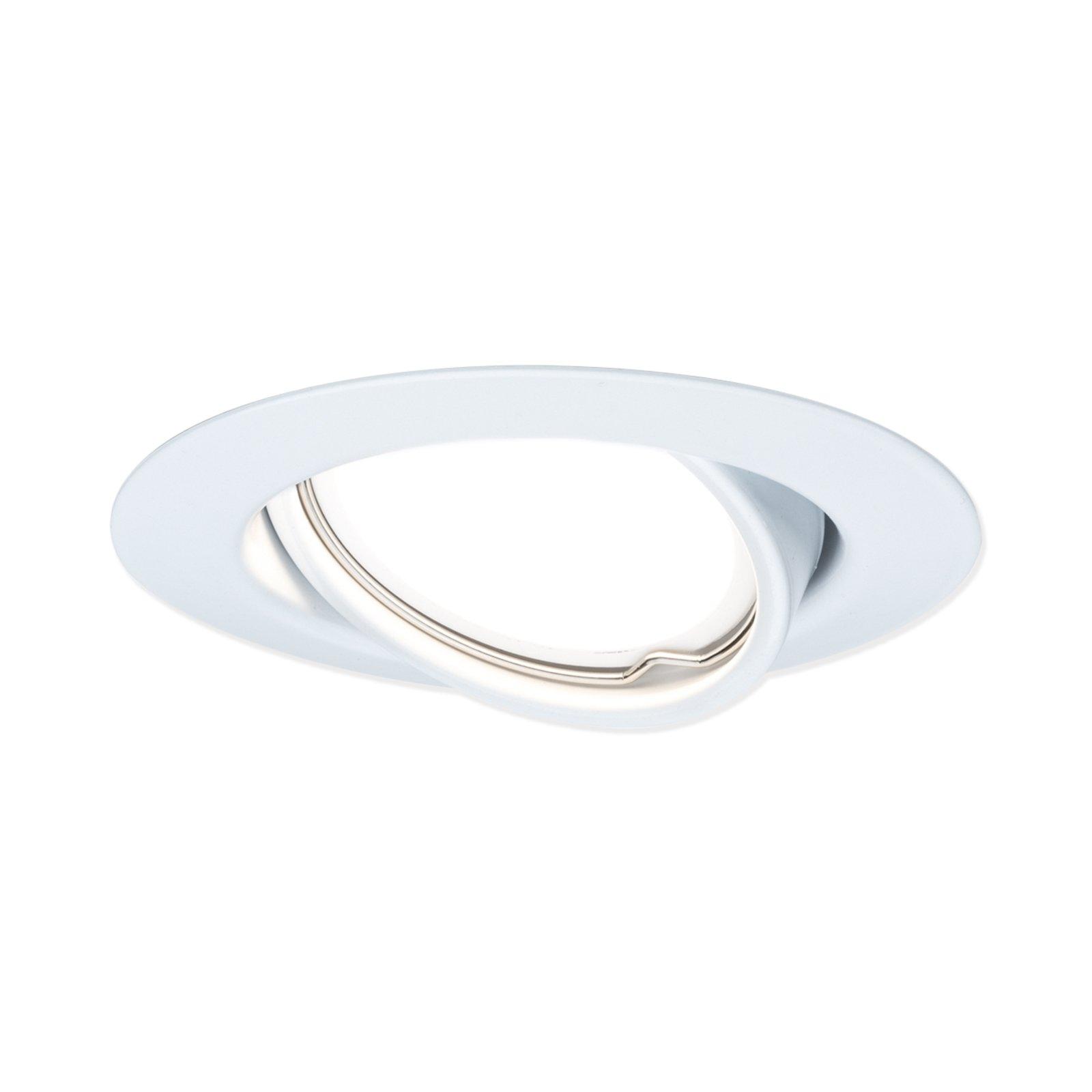 3er-Set - LED-Einbauspots - weiß - schwenkbar