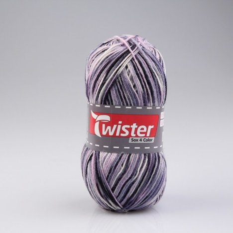 Wolle TWISTER SOX COLOR - blau multi - 100g
