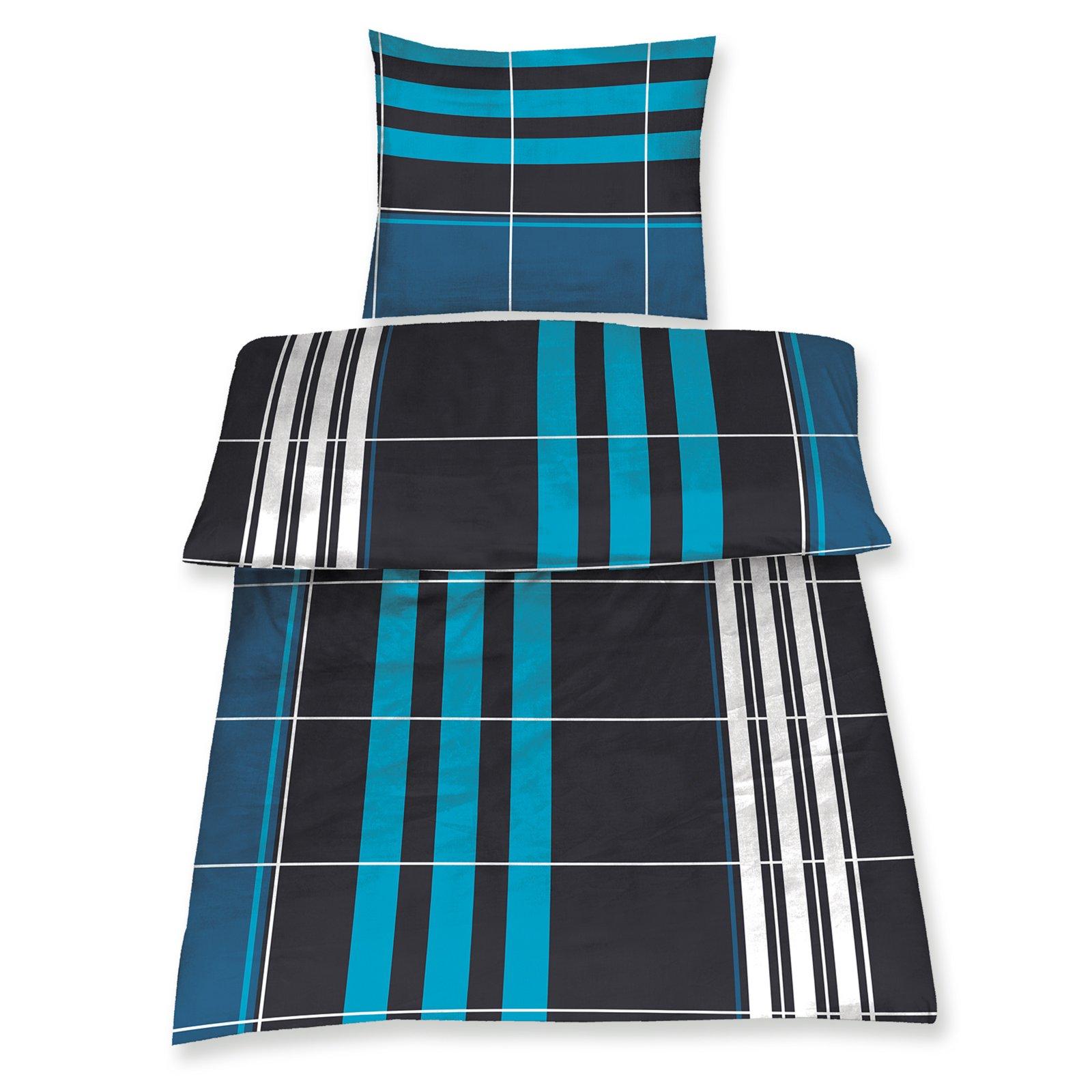 microfaser bettw sche basic petrol karo 135x200 cm bettw sche bettw sche bettlaken. Black Bedroom Furniture Sets. Home Design Ideas