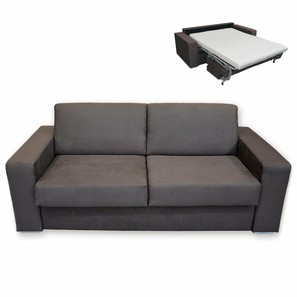 schlafsofa braun mit matratze dauerschl fer. Black Bedroom Furniture Sets. Home Design Ideas