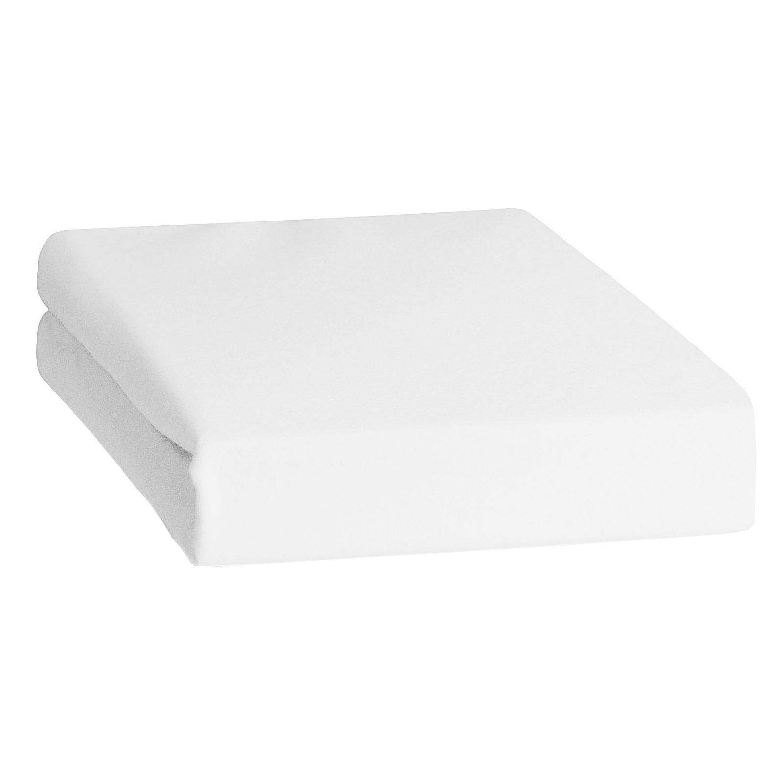 feinbiber spannbettlaken wei 100x200 cm bettlaken bettw sche bettlaken. Black Bedroom Furniture Sets. Home Design Ideas