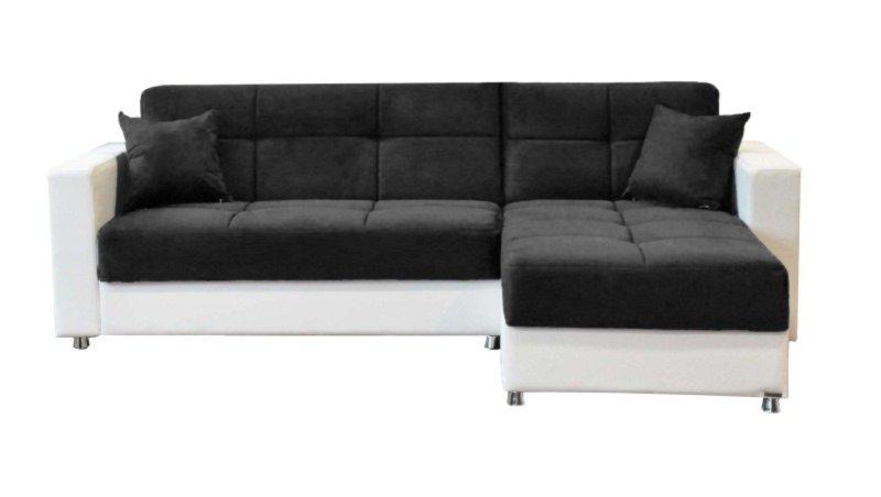 ecksofa schwarz wei liegefunktion federkern ecksofas l form sofas couches m bel. Black Bedroom Furniture Sets. Home Design Ideas