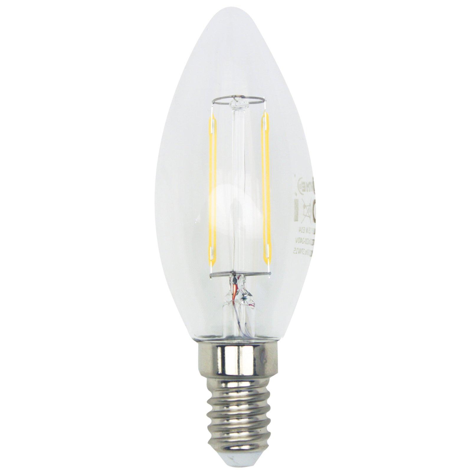 led kerzenlampe filament lightme e14 2 5 watt. Black Bedroom Furniture Sets. Home Design Ideas